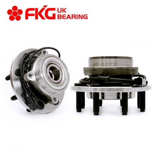 FKG 515061 Front Wheel Bearing Hub Assembly fit for 2003-2005 Dodge Ram 2500, 2003-2005 Dodge Ram 3500 4WD, 8 Lugs W/ABS Set of 2