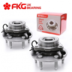 FKG 515036 Front Wheel Bearing Hub Assembly for 2003 - 2013 Chevy Express 1500, 6 lugs W/ABS (4WD Only) Set of 2
